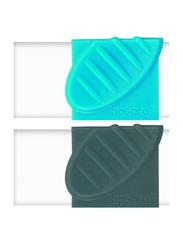 Apsara 2-Piece Absolute Eraser Blister Pack, Blue/Black
