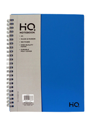 Navneet HQ Poly Wiro Notebook, 80 Sheets, A5 Size, Blue