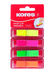 Kores Pop Up Film Index Tabs Page Marker, 4 x 40 Sheets, Multicolour