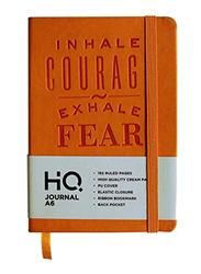Navneet HQ Journal Casebound PU Notebook, 96 Sheets, A6 Size, Orange