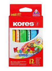 Kores Krayones Jumbo Triangular Wax Crayons, 12 Piece, Multicolour