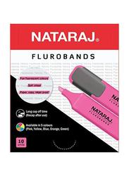 Nataraj Chisel Tip Highlighter, 2.5mm, Pink