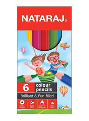 Nataraj Half Size Colour Pencil, 6 Piece, Multicolour