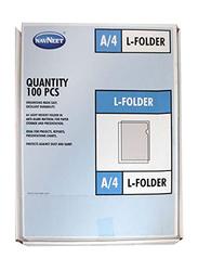 Navneet A4 L Folder, 100 Piece, Clear