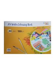 Navneet Create Art A4 Water Colouring Book, 20 Sheets, 120 GSM, Multicolour