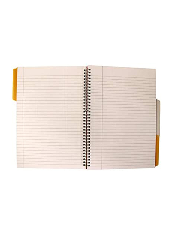 Navneet HQ Poly 3 Subject Notebook, 100 Sheets, A4 Size, Orange
