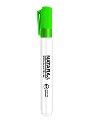 Nataraj 12-Piece Chisel Tip White Board Marker, 2.5mm, Green