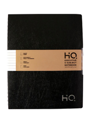 Navneet HQ Wiro Executive Poly 5 Subject Notebook, 150 Sheets, A4 Size, Black