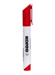 Kores 12-Piece K-Marker XW1 Round Tip Whiteboard, Red