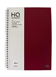 Navneet HQ Poly 1 Subject Notebook, 80 Sheets, A4 Size, Red