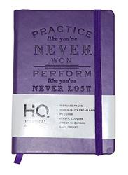 Navneet HQ Journal Casebound PU Notebook, 96 Sheets, A6 Size, Purple