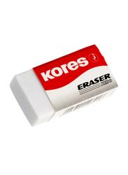 Kores 3-Piece KE-30 Paper Sleeved PVC Eraser, White
