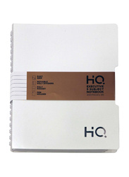 Navneet HQ Wiro Executive Poly 5 Subject Notebook, 150 Sheets, B5 Size, White