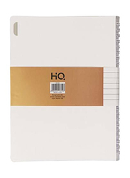 Navneet HQ Wiro Poly 1 Subject Executive Notebook, 80 Sheets, B5 Size, White