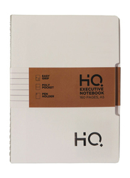 Navneet HQ Executive Notebook, 80 Sheets, A5 Size, White