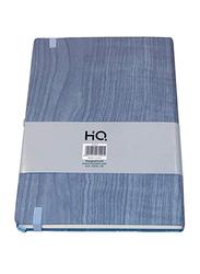 Navneet HQ Journal Casebound Wooden Texture Notebook, 80 Sheets, A5 Size, Blue