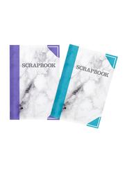 Silvine Marble Print Scrapbook, 120 GSM, 40 Sheets, Blue/Grey