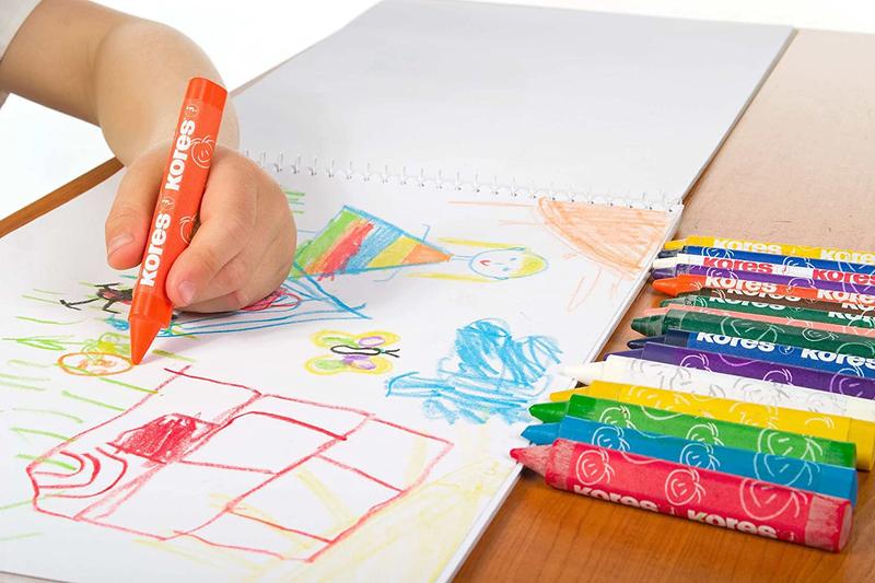 Kores Krayones Triangular Wax Crayons, 12 Piece, Multicolour