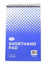 Navneet Spiral Short Hand Pad, 5 x 8inch, 70 Sheets, White/Blue