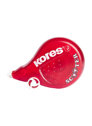 Kores 8m x 4.2mm Correction Tape, Red
