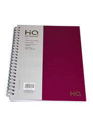 Navneet HQ Poly Wiro Notebook, 80 Sheets, A5 Size, Red