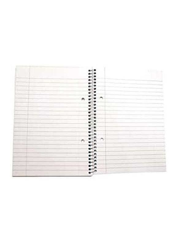Navneet Spiral Notebook, 80 Sheets, A5 Size, White/Blue