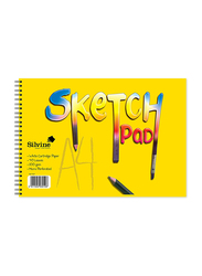 Silvine Sketch Pad, 40 Sheets, 100 GSM, A4 Size, Multicolour