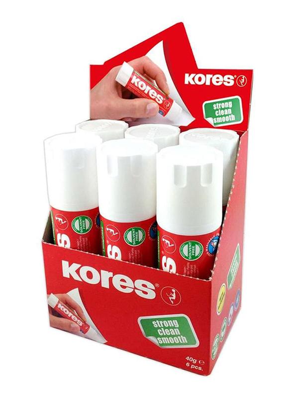 Kores Washable Non-Toxic Solid Glue Stick, 40g, White