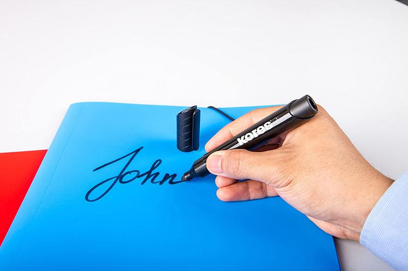 Kores 4-Piece XP1 Permanent Marker Pen with Bullet Tip, 3mm, Multicolours