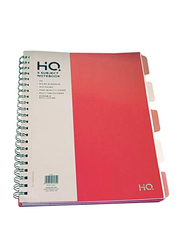 Navneet HQ Poly 5 Subject Wiro Notebook, 150 Sheets, A4 Size, Orange