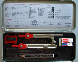Nataraj 9-Piece Maths Instrument Set, Red
