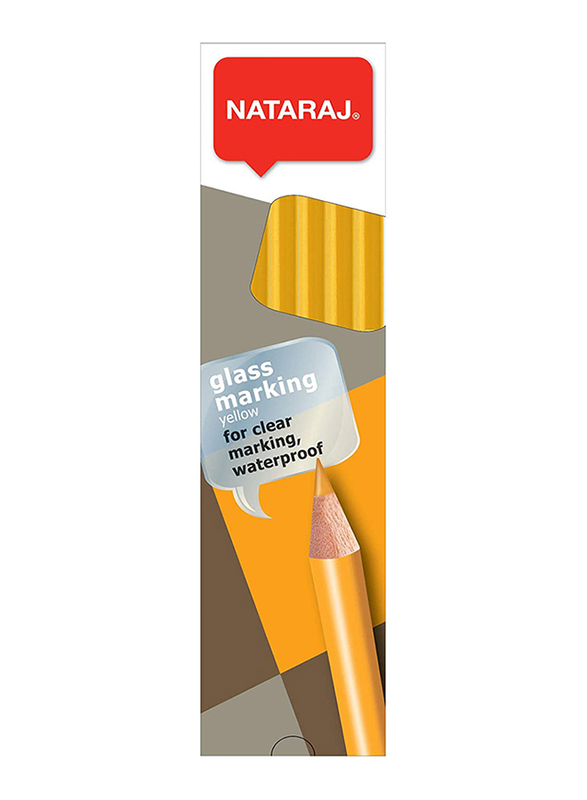Nataraj Glass Marking Pencil, Yellow