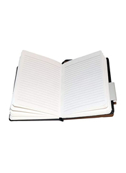 Navneet HQ Journal Casebound PU Notebook, 96 Sheets, A6 Size, Black