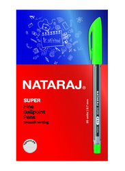Nataraj 50-Piece Super Fine Ballpoint Pen Set, 0.7mm, Green