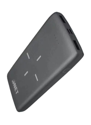 Inet 10000mAh Wireless Charging Power Bank with Lightning and Micro-USB Input, Black