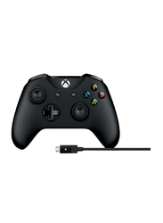Microsoft 4N6-00002 Wireless Controller for Xbox One & Cable for Windows, Black