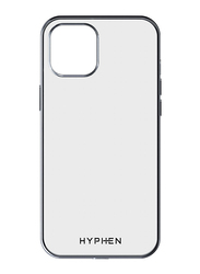 Hyphen Apple iPhone 12 6.1-inch Mobile Phone Case Cover, Clear/Silver