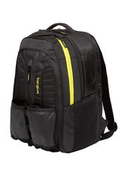 Targus Work + Play Rackets 15.6-inch Backpack Laptop Bag, Black/Yellow