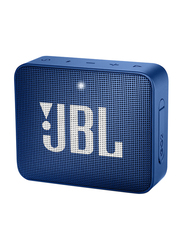 JBL Go 2 Water Resistant Portable Bluetooth Speaker, Deep Sea Blue