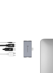 Adam Elements AAPADHUBI4GY USB-C 4-in-1 Hub for Apple iPad Pro, Grey