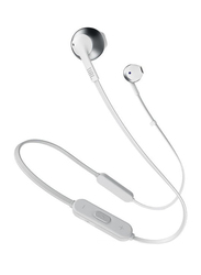 JBL T205BT Wireless In-Ear Headphones, Silver