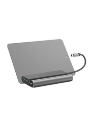 Hama 7-in-1 USB Type-C Docking Station for PC and Notebooks, Grey