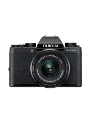 Fujifilm X-T100 Mirrorless Digital Camera with 15-45mm Lens, 24.2 MP, 4K, Black
