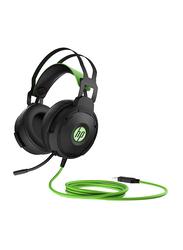 HP 600 Wired On-Ear Gaming Headset, Black/Green