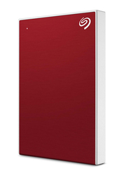 Seagate 2TB HDD Backup Plus Slim External Portable Hard Drive, USB 3.0, STHN2000403, Red