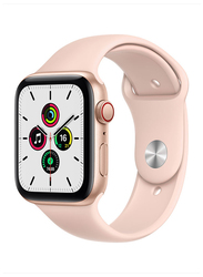 Apple Watch SE - 44mm Smartwatch, GPS, Gold Aluminum Case with Pink Sand Sport Band