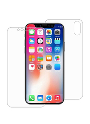 Tingz Apple iPhone X Front & Back Tempered Glass Screen Protector, Clear