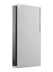 LaCie 1TB HDD Porsche Design Portable Mobile External Portable Hard Drive, USB 3.0, STET1000403, Silver