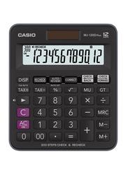 Casio 12-Digit Plus Desktop Calculator, MJ-120D, Black