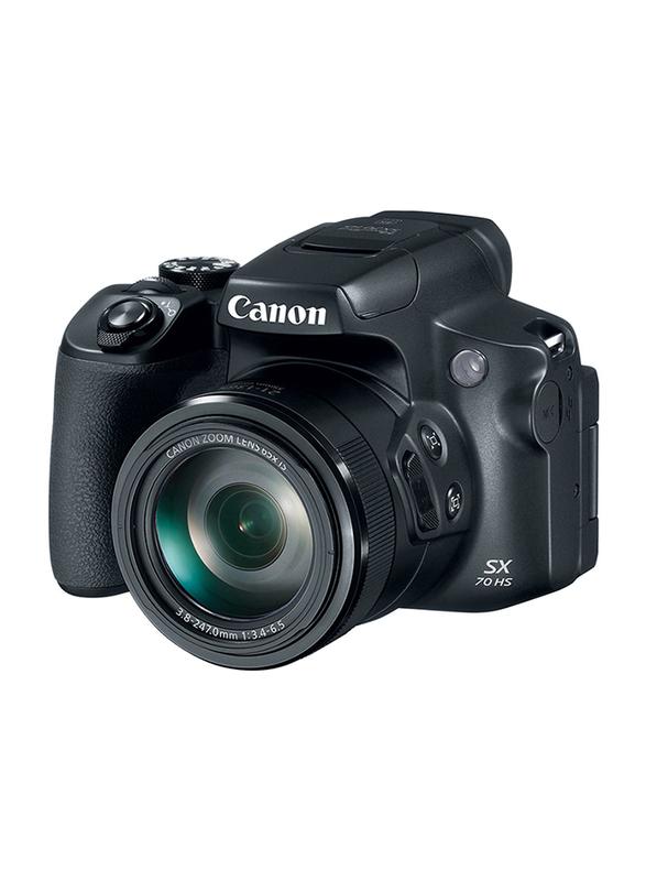 Canon Power Shot SX70 HS Digital Camera, 20.3MP, 4K, 65x Optical Zoom, Black